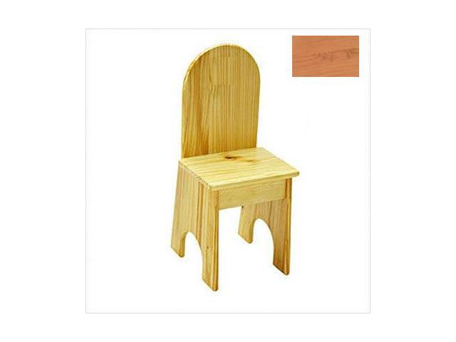 Little Colorado 022NANC Solid Back No Cut Kids Chair in Natural