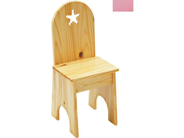 Little Colorado 022SPST Solid Back Star Kids Chair in Soft Pink