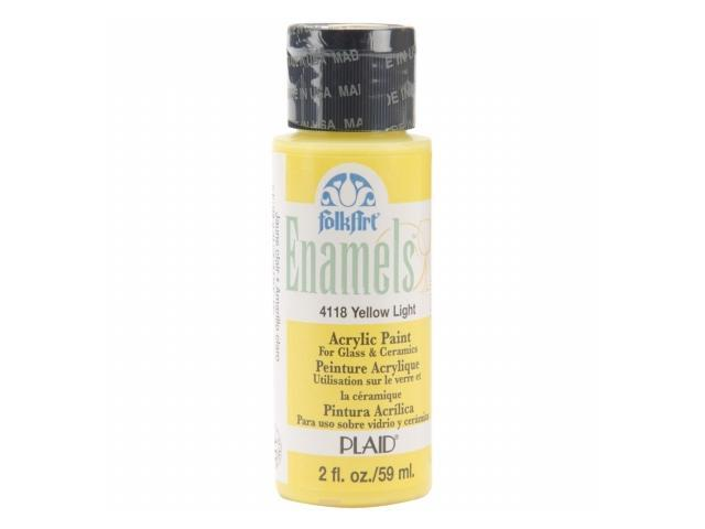 Folk Art Enamel Paint 2 Ounces-Yellow Light