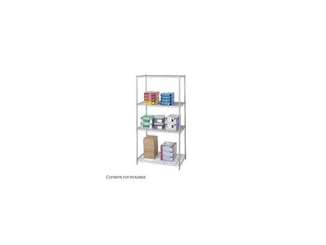 Safco 5288GR 36 x 24 Inch Wire Shelving Starter Unit - Gray