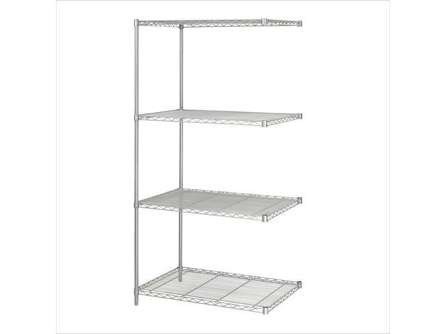 Safco 5289GR 36 x 24 Inch Wire Add On Unit - Gray
