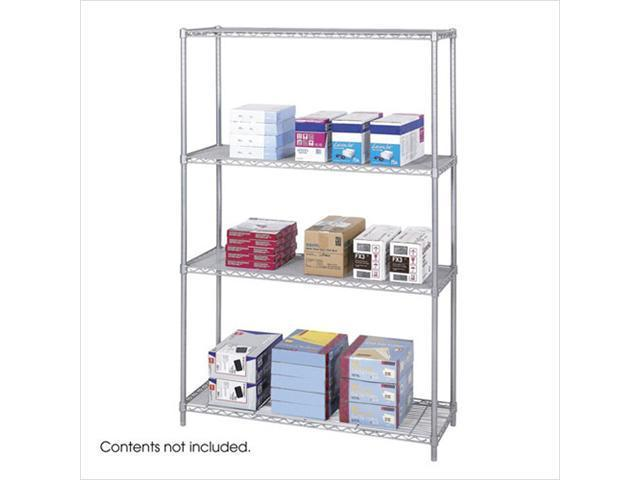 Safco 5291GR 18 x 48 Inch Wire Shelving Starter Unit - Gray