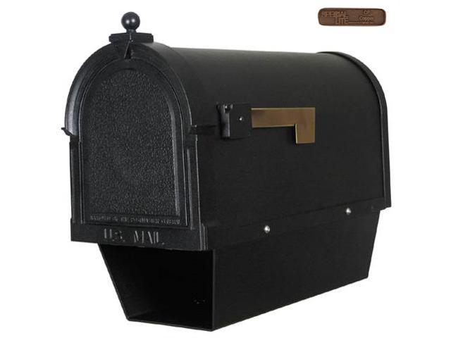 Berkshire SCB-2015-DX-CP Berkshire Curbside Mailbox with Paper Tube with Front and Side Numbers-Black