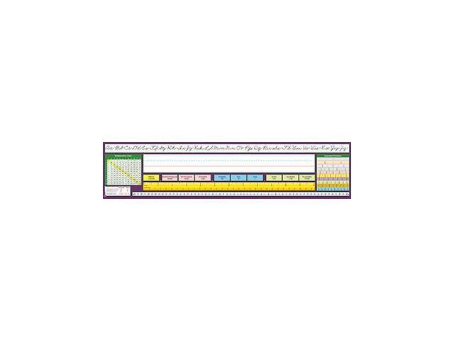 North Star Teacher Resource NST9042 Traditional Cursive Desk Plate 17-.50 X 4 36Pk