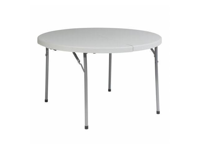 Office Star BT48F 48 in. Round Fold in Half Resin Multi Purpose Table- Resin