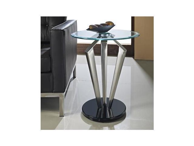 Powell 989-352 Tripod Metal and Glass Table