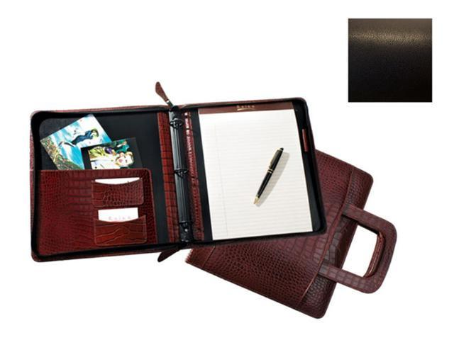 Raika TN 181 BLK Zipper Portfolio with Retratcable Handle - Black