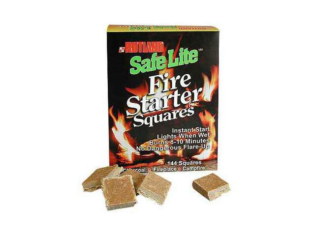 Woodeze 5RU-50B Safe Lite Fire Starters - 144 Squares