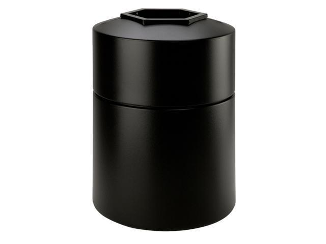 Commercial Zone 730101 45-Gallon Round Waste Container - Black