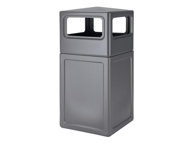 Commercial Zone Products 73290399 42-gallon Square Waste container with Dome Lid  Gray
