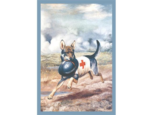 Buyenlarge 11142-9CG28 Red Cross Dog 28x42 Giclee on Canvas