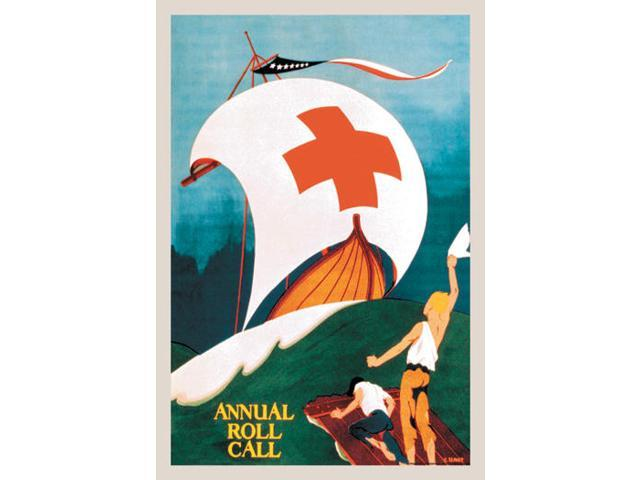 Buyenlarge 06804-3CG12 Red Cross Annual Roll Call 12x18 Giclee on canvas