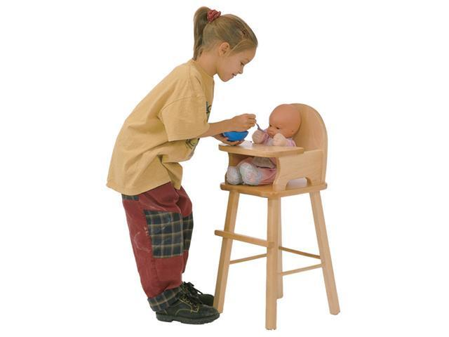 Steffy Wood Products SWP119 Maple Doll Highchair