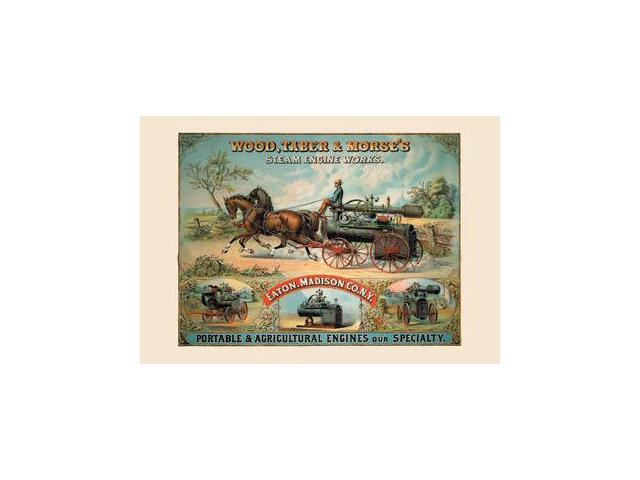 Buyenlarge 14491-2CG12 Wood  Taber and Morse&NO.39s Steam Engine Works 12x18 Giclee on canvas