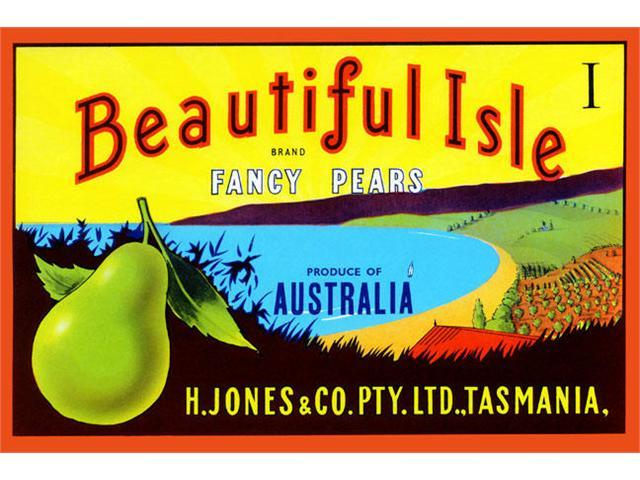Buyenlarge 22611-0P2030 Beautiful Isle Brand Fancy Pears 20x30 poster