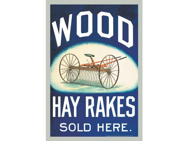 Buyenlarge 14479-3P2030 Wood Hay Rakes Sold Here 20x30 poster