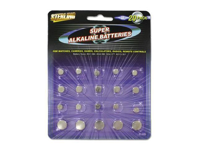 Alkaline button batteries - Pack of 96