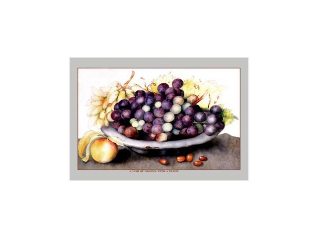 Buyenlarge 11583-1P2030 A Dish of Grapes and Peaches 20x30 poster