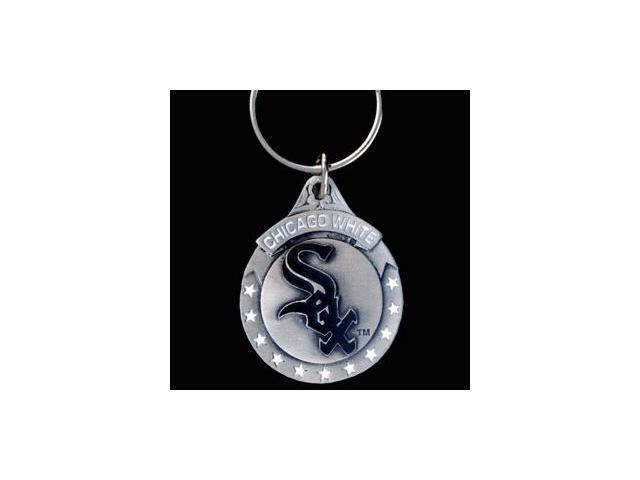 Siskiyou Gifts SBK145 Team Logo Key Ring- White Sox