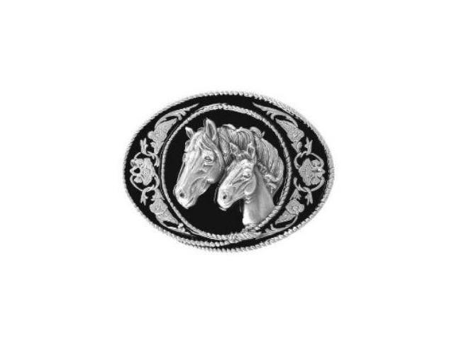 Siskiyou SportsA5E Pewter Belt Buckle- Horse and Colt