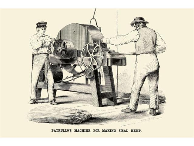 Buyenlarge 22523-8P2030 Patrullo-s Machine for Making Sisal Hemp 20x30 poster