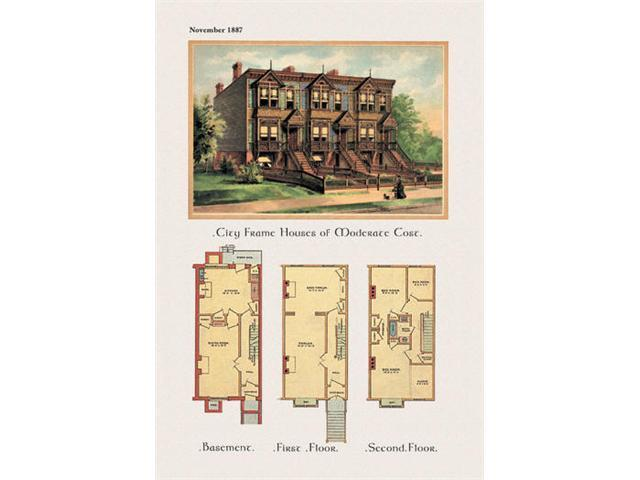 Buyenlarge 02789-4P2030 City Frame House of Moderate Cost 20x30 poster