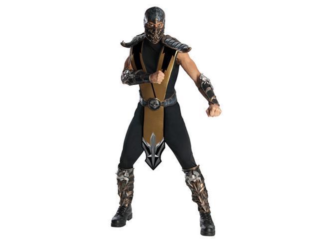 Rubies Costume Co 880286R-STD Mens Deluxe Mortal Kombat Scorpion Costume - Standard