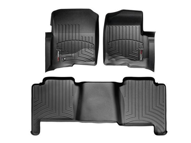 WeatherTech 44005-1-2 Front and Rear Floorliners Black Ford F-Series 04-08