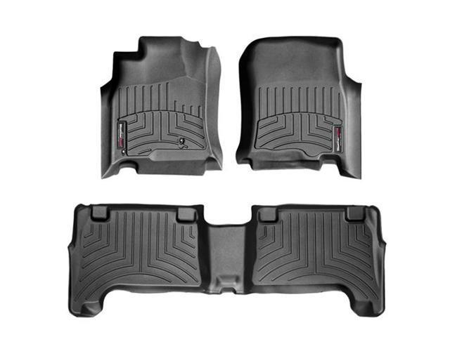WeatherTech 44011-1-2 Front and Rear Floorliners Black Toyota 4Runner 03-09