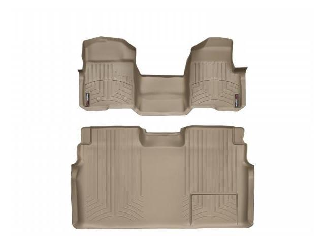 WeatherTech 452951-451793 Front and Rear Floorliners - Over The Hump Tan Ford F-Series 11-11