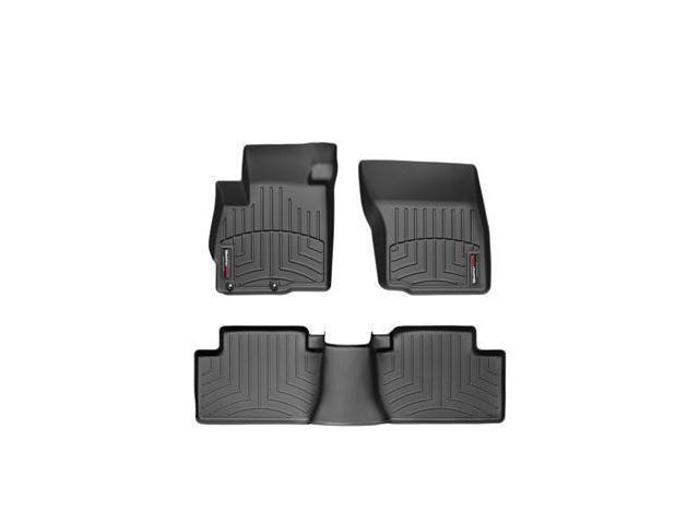 WeatherTech 44162-1-2 Front and Rear Floorliners Black Mitsubishi Outlander 07-11
