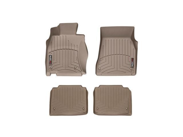 WeatherTech 452361-452072 Front and Rear Floorliners Tan Lexus LS-Series 07-11
