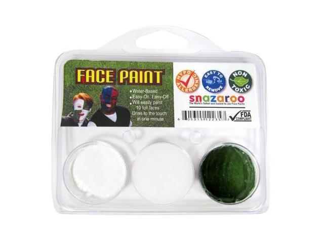 Snazaroo 208315 White and Dark Green Fan Face Paint
