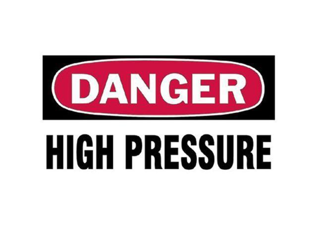 Brady 262-60309 3 Inchx5 Inch Danger High Pressure Gas Cylinder Label