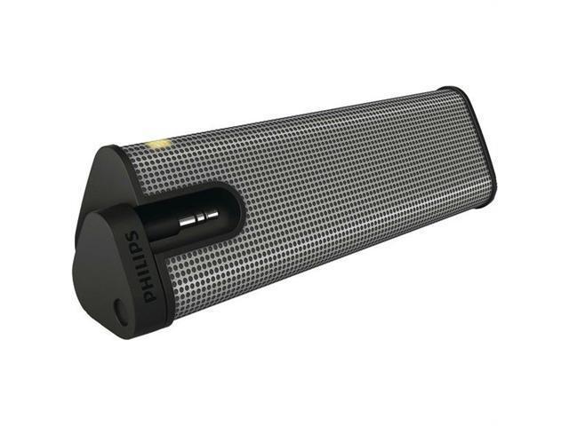 Philips SBA1610-37 Mini-Prism Portable Speaker - Gray