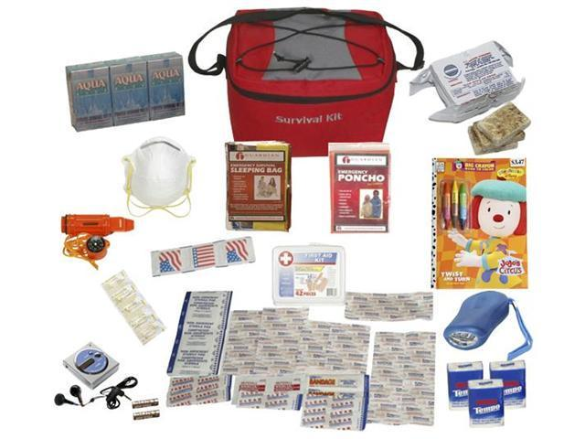 Guardian GDSKCP Survival Pal Kit Set For Children - Red