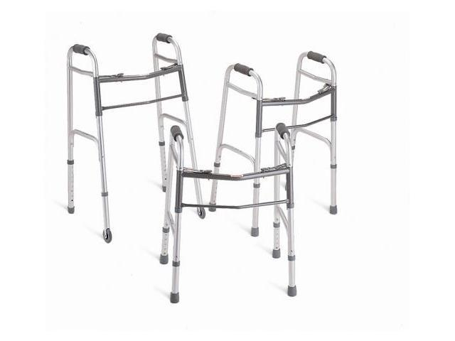 MEDLINE MDS86410JW54B Youth Two-Button Folding Walkers with 5 in. Wheels