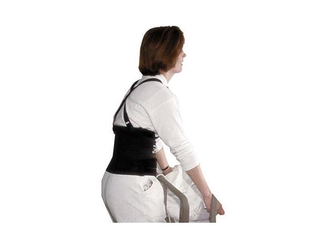 """Impact 7379S Deluxe Back Support, 7"""" Back Panel, Single Closure w/Suspenders, Small, Black"""