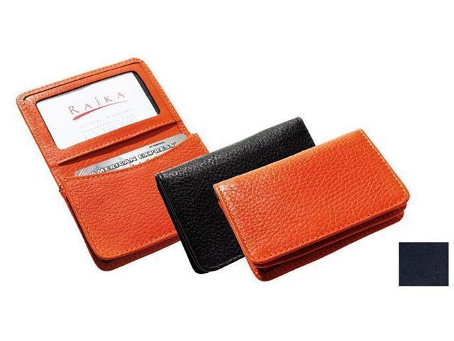 Raika RM 156 NAVY Gusseted Card Case - Navy