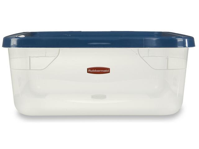 Rubbermaid 15 Quart Clever Store Non Latching Storage Bin  FG3Q2400CLCBL - Pack of 8