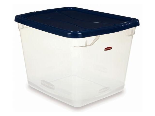 Rubbermaid 30 Quart Clever Store Non Latching Storage Bin  FG3Q2700CLRCB - Pack of 8