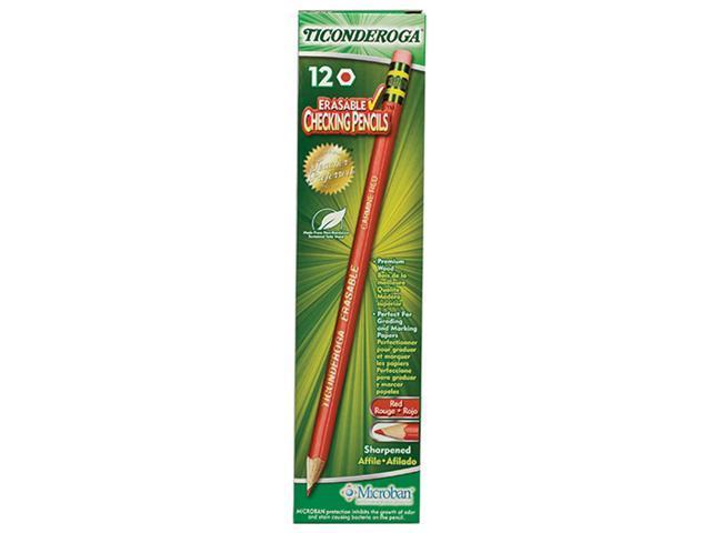 Dixon Ticonderoga Company DIX14259 Ticonderoga Erasable 12Ct Colored Pencils Carmine Red