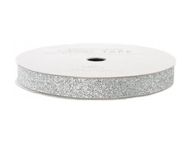 Glitter Paper Tape 3 Yards/Spool-Silver .375