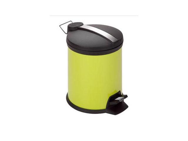 Honey Can Do 5L Step Trash Can, Lime - TRS-02071