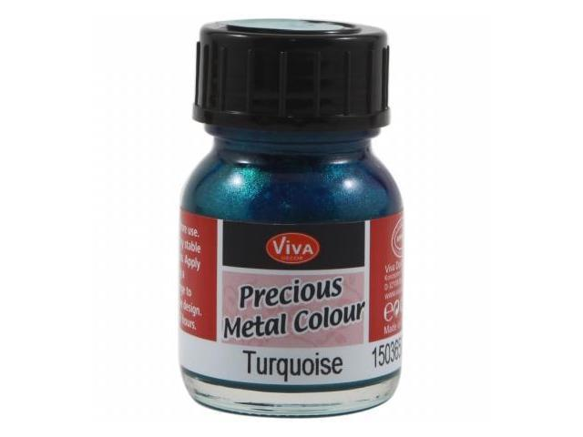Viva Decor Precious Metal Color 25ml/Pkg-Turquoise