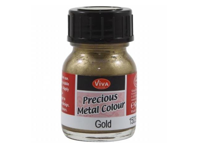 Viva Decor Precious Metal Color 25ml/Pkg-Gold