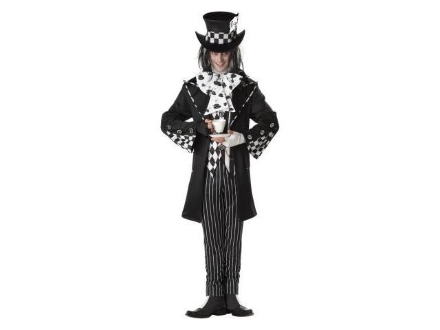 California Costumes 194495 Dark Mad Hatter Adult Costume - Black - X-Large