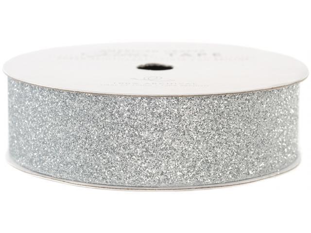 Glitter Paper Tape 3 Yards/Spool-Silver .875