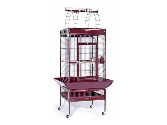 Prevue Hendryx PP-3153W Large Select Wrought Iron Play Top Bird Cage - Pewter