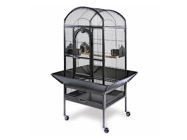 Prevue Hendryx PP-3161W Small Dometop Cockatiel Cage - Pewter